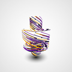 Futuristic abstract shape illustration