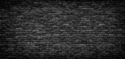 Printed roller blinds Brick wall Black brick wall texture, brick surface as background