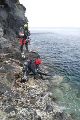 知床の海に挑戦する