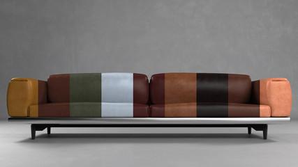 Sofa aus Leder in verschiedenen Farben