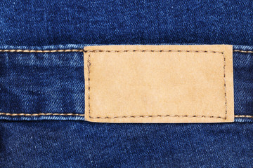 classic jeans label leather for pattern and design