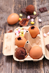 chocolate dessert for easter holiday