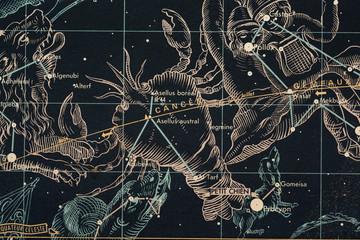znaki zoodiaku-rak- mapa nieba