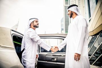 Arabian men in the Emirates