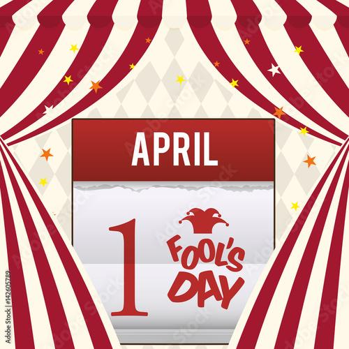 Calendar April Fools : Quot april fools day calendar design vector illustration eps