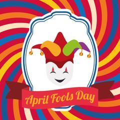 april fools day mask joker hat vector illustration eps 10