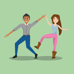 couple dancing together vector illustration eps 10