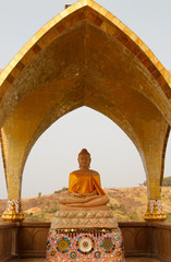 Keuken foto achterwand Boeddha Buddha in Wat Phasornkaew. A view of Beautiful temple. Located in Phetchabun province northern of Thailand .