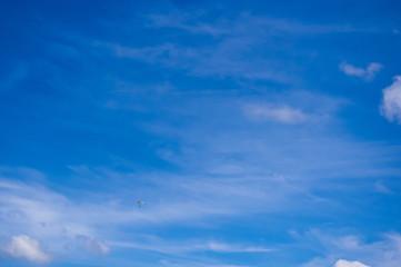 Glider, sky, clouds