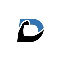 D logo for fitness