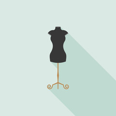 Black Mannequin icon in flat design vector