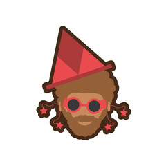 head man with hat party vector illustration eps 10