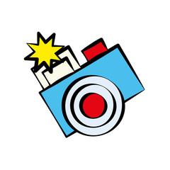 cartoon photo camera image vector illustration eps 10