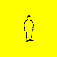 fat man icon. isolated sign