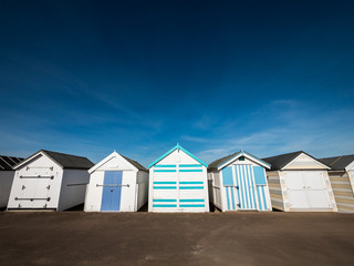 Traditional English Beach Huts
