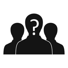 Group of people with unknown personality icon