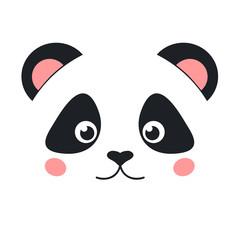 Cartoon panda face