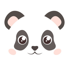 Isolated panda face