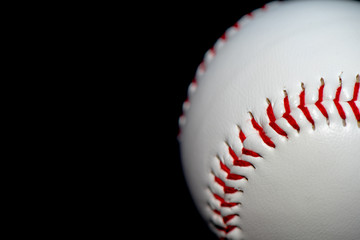 baseball on a black background