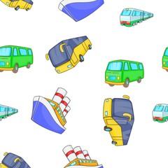 Vehicles pattern, cartoon style