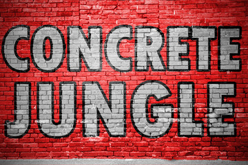Concrete Jungle Ziegelsteinmauer Graffiti