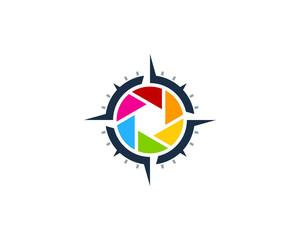 Compass Photo Icon Logo Design Element