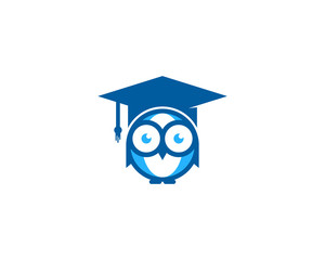 Owl Education Icon Logo Design Element