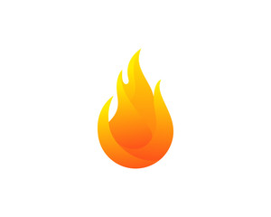 Fire Icon Logo Design Element