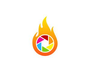 Fire Photography Icon Logo Design Element