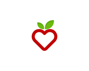 Fruit Love Icon Logo Design Element