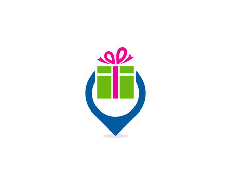 Gift Point Icon Logo Design Element
