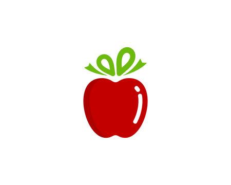 Apple Gift Icon Logo Design Element