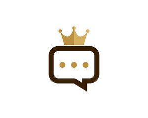 King Talk Icon Logo Design Element