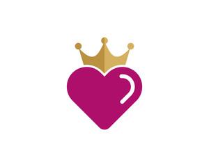 Love King Icon Logo Design Element