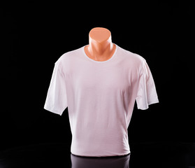White T-shirt on a mannequin