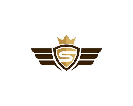 King Wing Icon Logo Design Element