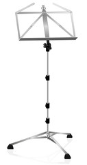 Music stand - metal style - isolated vector illustration on white background.
