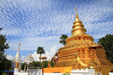 Wat Phra That Sri Chom Thong buddhist temple. Many people belive that pagoda in this temple is pagoda for people who born in the Year of the Rat. chiangmai thailand