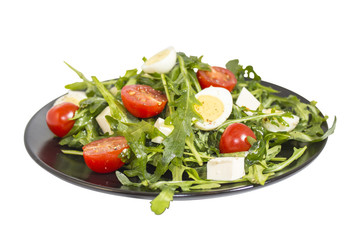 Quail eggs salad (image with clipping path)