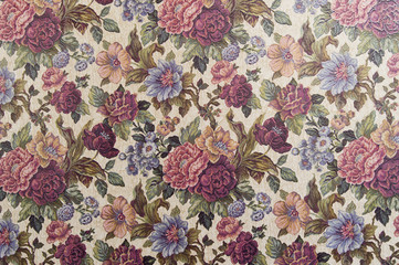 fabric wallpaper with floral print