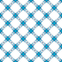 Abstract seamless pattern of various geometric elements.