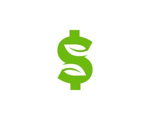 Green Money Icon Logo Desing Element