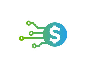 Money Tech Icon Logo Desing Element