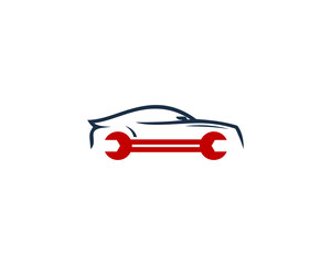 Repair Car Garage Icon Logo Design Element