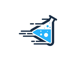 Science Fast Lab Icon Logo Design Element
