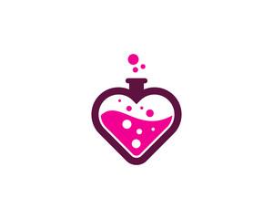 Love Science Lab Icon Logo Design Element