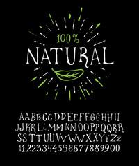 Organic handwritten font NATURAL