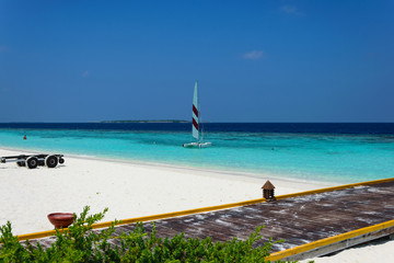 Maldivian Beach Scene