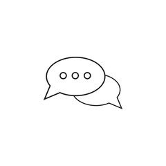 Message bubbles thin line icon, chat outline vector logo illustration, talk linear pictogram isolated on white