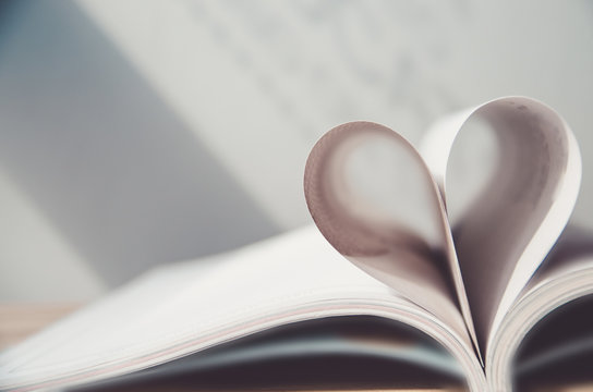 Pages of a book forming the shape of the heart. (love) ,velantine